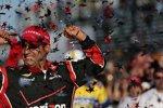 Sieger Juan Pablo Montoya feiert