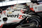 Viermal Penske-Chevy: Will Power, Juan Pablo Montoya, Helio Castroneves, Simon Pagenaud