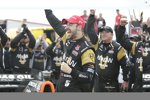 James Hinchcliffe feiert in der Victory Lane