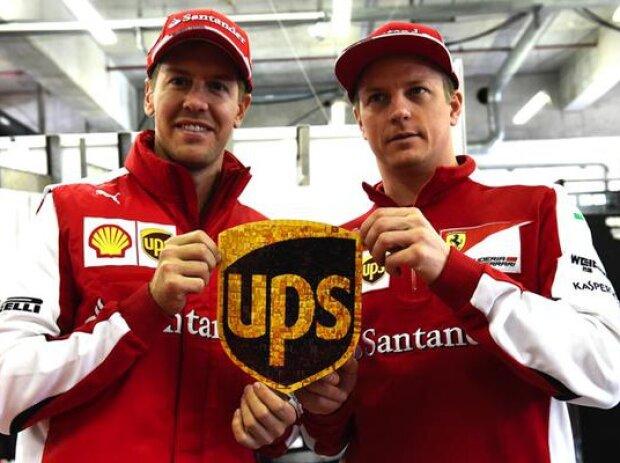 Kimi Räikkönen, Sebastian Vettel, UPS, Logo, Penis