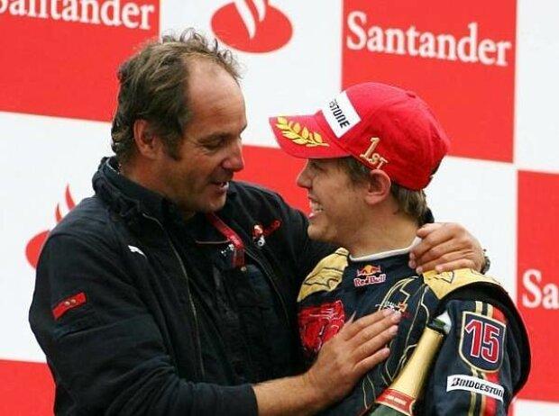 Gerhard Berger und Sebastian Vettel