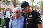 Bernie Ecclestone und Lewis Hamilton (Mercedes)