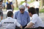 Bernie Ecclestone und Toto Wolff