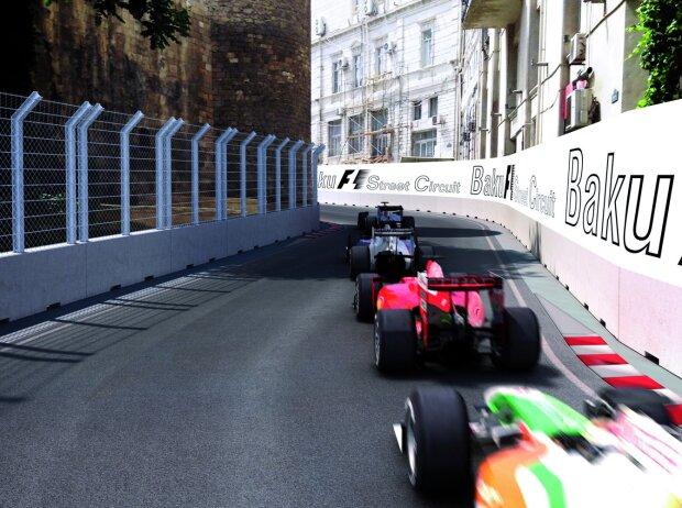 Tilke-Fotomontage: Grand Prix von Europa, Baku, Aserbaidschan