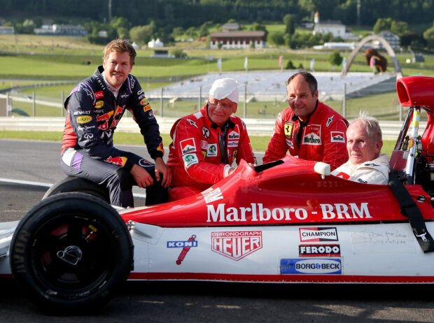 Niki Lauda, Gerhard Berger, Helmut Marko, Sebastian Vettel