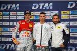 Pascal Wehrlein (HWA-Mercedes 2) und Timo Glock (MTEK-BMW)