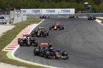 Carlos Sainz (Toro Rosso), Romain Grosjean (Lotus), Pastor Maldonado (Lotus) und Daniel Ricciardo (Red Bull)