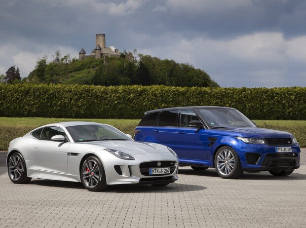 Jaguar F-Type R AWD und Range Rover Sport SVR