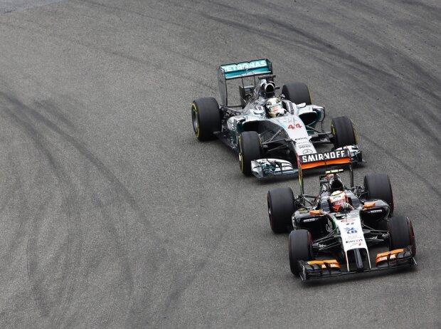 Sergio Perez, Lewis Hamilton