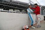 Vitantonio Liuzzi (Trulli) und Jaime Alguersuari (Virgin)