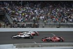 Dreikampf in der Schlussphase: Will Power, Juan Pablo Montoya und Scott Dixon