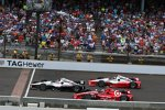 Dreikampf in der Schlussphase: Will Power, Scott Dixon und Juan Pablo Montoya