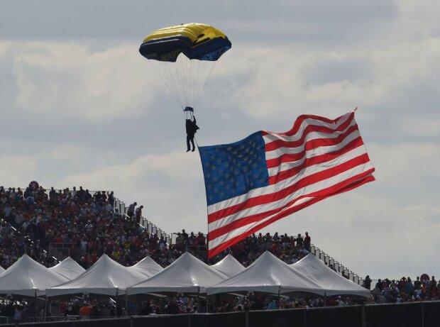 US-Flagge in Austin