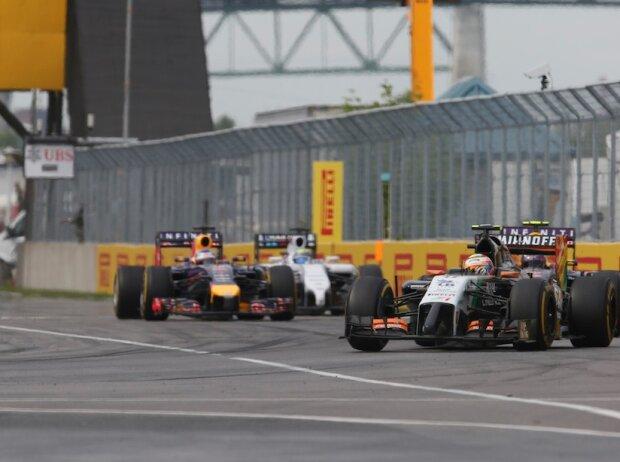 Sergio Perez, Daniel Ricciardo, Sebastian Vettel, Felipe Massa
