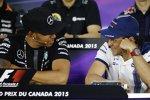 Lewis Hamilton (Mercedes) und Felipe Massa (Williams)