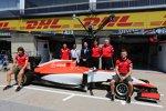 Roberto Merhi (Manor-Marussia), Will Stevens (Manor-Marussia), Graeme Lowdon und John Booth