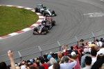 Daniil Kwjat (Red Bull) und Nico Rosberg (Mercedes)