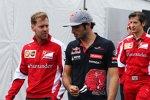 Sebastian Vettel (Ferrari) und Carlos Sainz (Toro Rosso)