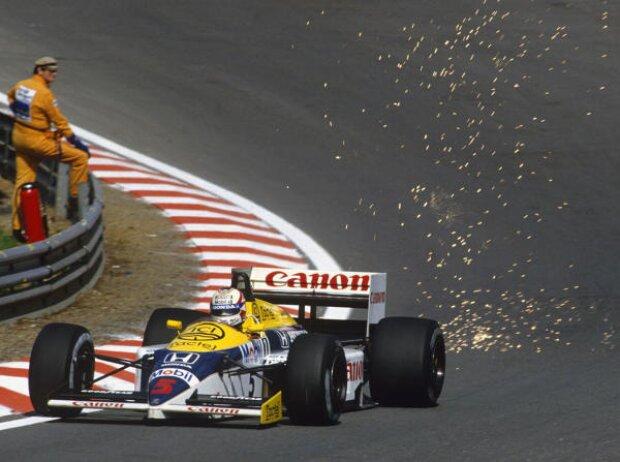 Nigel Mansell Williams Spa Belgien 1986 Funken