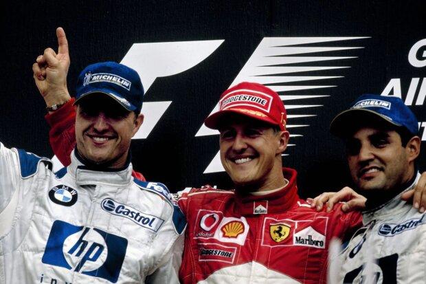 Michael Schumacher Ralf Schumacher Ferrari Scuderia Ferrari F1Williams Williams Martini Racing F1 ~Michael Schumacher und Ralf Schumacher ~