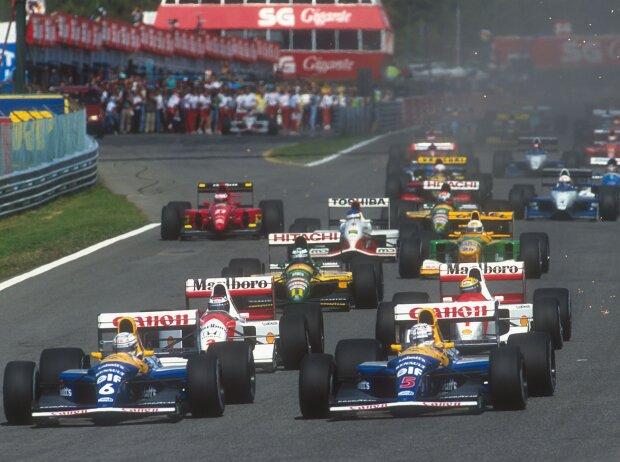 Riccardo Patrese, Nigel Mansell, Gerhard Berger, Mika Häkkinen, Jean Alesi