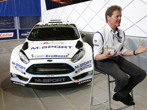 M-Sport-Boss Malcolm Wilson und der Ford Fiesta RS WRC