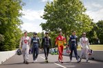 Jerome D'Ambrosio, Nicolas Prost, Nelson Piquet Jun., Lucas di Grassi, Sebastien Buemi und Sam Bird