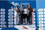 Jerome D'Ambrosio (Dragon), Sebastien Buemi (e.dams), Alain Prost und Jean-Eric Vergne (Andretti)