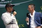 Lewis Hamilton (Mercedes) und Frank Dernie