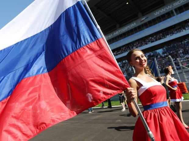 Girdgirl Russland Flagge Sotschi