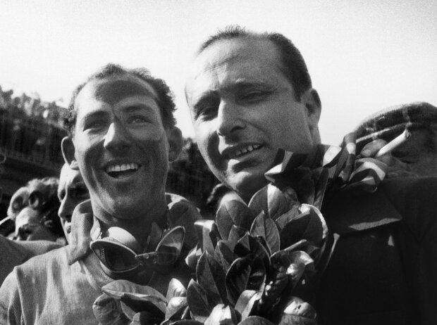 Stirling Moss, Juan Manuel Fangio, 1955