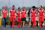 Sebastian Vettel (Ferrari) beim Track-Walk