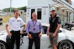 Connor de Phillippi, Johnny Herbert und Nico Hülkenberg (Force India)