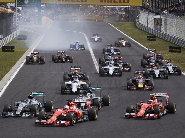 Sebastian Vettel, Kimi Räikkönen, Nico Rosberg, Lewis Hamilton