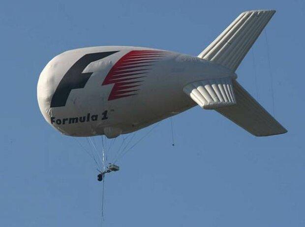 Formel-1-TV-Zeppelin für Luftaufnahmen