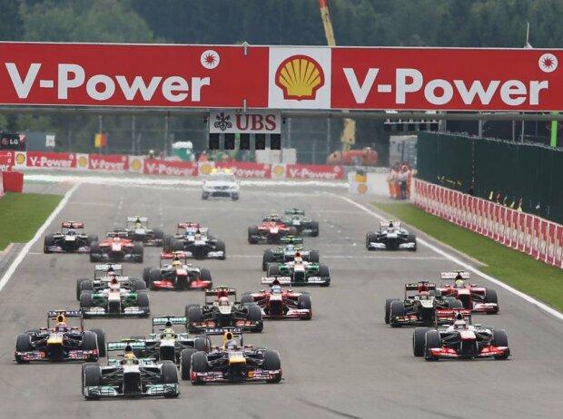 Start zum Grand Prix von Belgien 2013 in Spa-Francorchamps