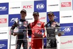 George Russell, Lance Stroll und Charles Leclerc