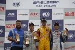 Felix Rosenqvist, Antonio Giovinazzi und Sergio Sette Camara