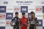 Charles Leclerc, Lance Stroll und Alexander Albon