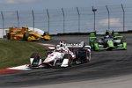 Helio Castroneves (Penske), Sebastien Bourdais (KV) und Ryan Hunter-Reay (Andretti)