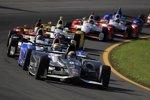 Gabby Chaves (Herta) vor Justin Wilson (Andretti) und dem Rest der IndyCar-Meute