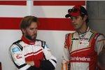 Nick Heidfeld (Mahindra) und Bruno Senna (Mahindra)