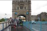 Die MotoGP-Stars auf der Tower Bridge in London