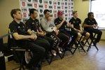 Die sechs Titelkandidaten: Will Power, Helio Castroneves, Graham Rahal, Scott Dixon, Josef Newgarden, Juan Pablo Montoya