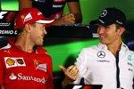 Sebastian Vettel (Ferrari) und Nico Rosberg (Mercedes)