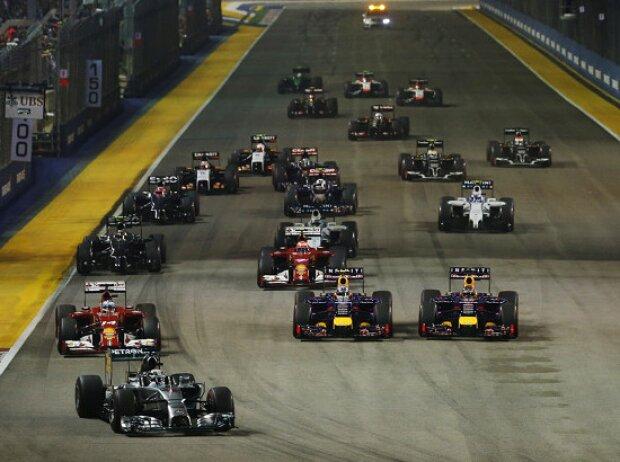 Lewis Hamilton, Sebastian Vettel, Fernando Alonso, Daniel Ricciardo