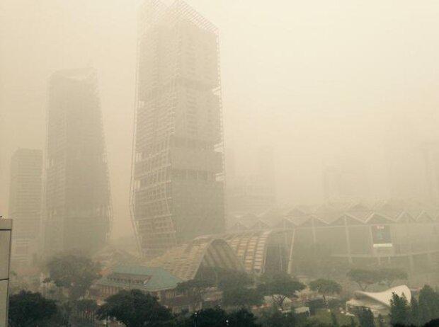 Singapur im Smog