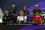 Felipe Nasr (Sauber), Sergio Perez (Force India), Pastor Maldonado (Lotus), Roberto Merhi (Manor-Marussia), Valtteri Bottas (Williams) und Romain Grosjean (Lotus)