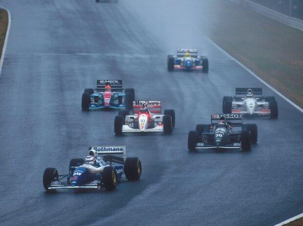Nigel Mansell, Heinz-Harald Frentzen, Mika Häkkinen