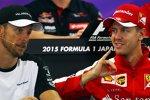 Jenson Button (McLaren) und Sebastian Vettel (Ferrari)